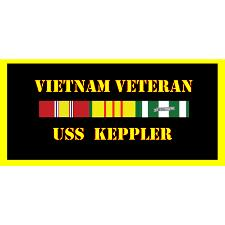 USS Keppler Vietnam Veteran License Plate