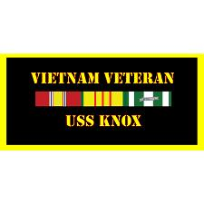 USS Knox Vietnam Veteran License Plate
