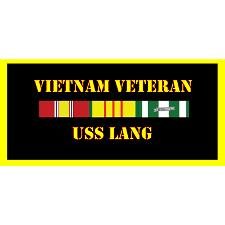 USS lang Vietnam Veteran License Plate