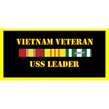 USS Leader Vietnam Veteran License Plate