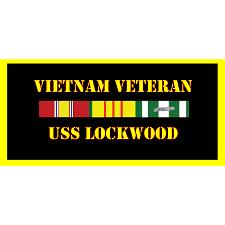 USS Lockwood Vietnam Veteran License Plate