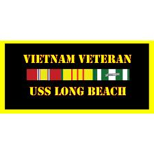 USS Long Beach Vietnam Veteran License Plate