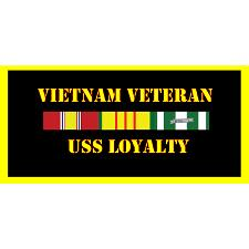 USS Loyalty Vietnam Veteran License Plate