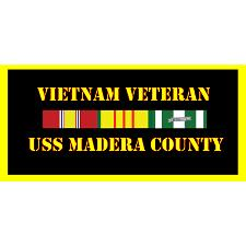 USS Madera County Vietnam Veteran License Plate