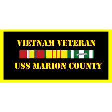 USS marion County Vietnam Veteran License Plate