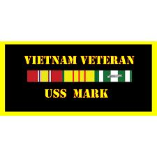 USS Mark Vietnam Veteran License Plate