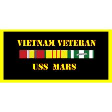 USS Mars Vietnam Veteran License Plate