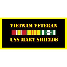 USS Mary Shields Vietnam Veteran License Plate