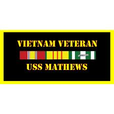 USS Mathews Vietnam Veteran License Plate