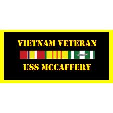 USS MCcaffery Vietnam Veteran License Plate
