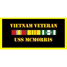 USS Mcmorris Vietnam Veteran License Plate