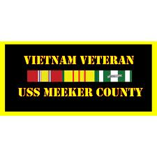 USS Meeker County Vietnam Veteran License Plate