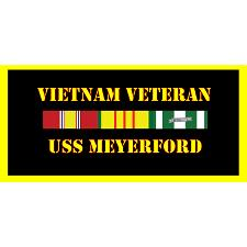 USS Meyerford Vietnam Veteran License Plate