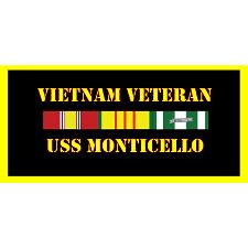 USS Montecillo Vietnam Veteran License Plate