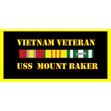 USS Mount Baker Vietnam Veteran License Plate