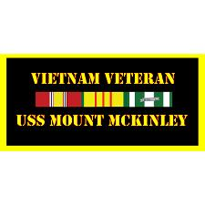 USS Mount MCkinley Vietnam Veteran License Plate