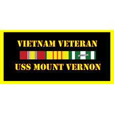 USS Mount Vernon Vietnam Veteran License Plate