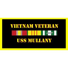 USS Mullany Vietnam Veteran License Plate