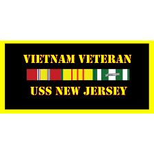 USS New Jersey Vietnam Veteran License Plate
