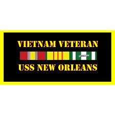 USS New Orleans Vietnam Veteran License Plate