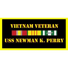 USS Newman K Perry Vietnam Veteran License Plate