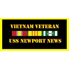USS Newport News Vietnam Veteran License Plate