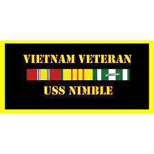 USS Nimble Vietnam Veteran License Plate