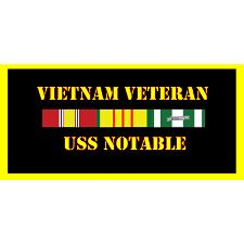 USS Notable Vietnam Veteran License Plate