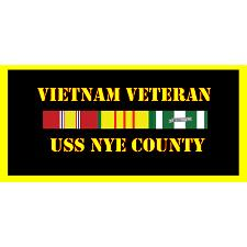USS Nye County Vietnam Veteran License Plate