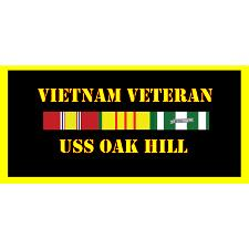 USS Oak Hill Vietnam Veteran License Plate