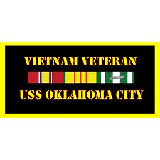 USS Oklahoma City Vietnam Veteran License Plate