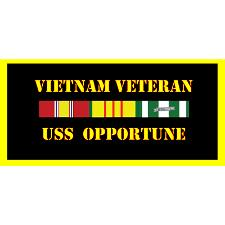 USS opportune Vietnam Veteran License Plate
