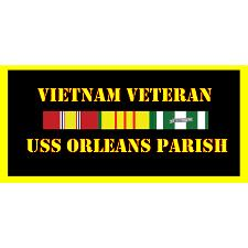 USS Orleans Parish Vietnam Veteran License Plate