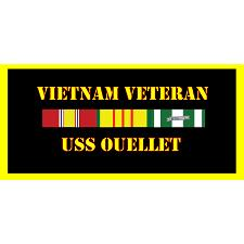 USS Oullett Vietnam Veteran License Plate