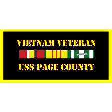USS Page County Vietnam Veteran License Plate