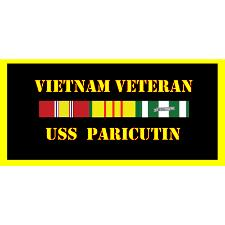 USS paricutin Vietnam Veteran License Plate
