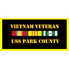 USS Park County Vietnam Veteran License Plate