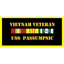 USS Passumpsic Vietnam Veteran License Plate