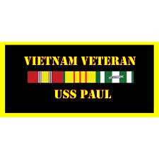 USS paul Vietnam Veteran License Plate