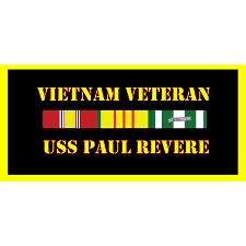 USS Paul Reveer Vietnam Veteran License Plate