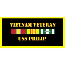 USS Philip Vietnam Veteran License Plate
