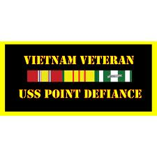 USS Point Defience Vietnam Veteran License Plate