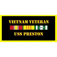USS preston Vietnam Veteran License Plate