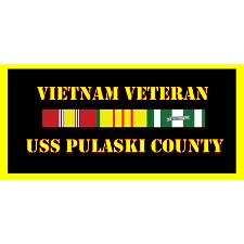 USS paluski County Vietnam Veteran License Plate