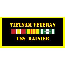 USS Rainier Vietnam Veteran License Plate