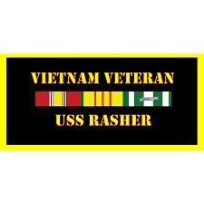 USS Rasher Vietnam Veteran License Plate