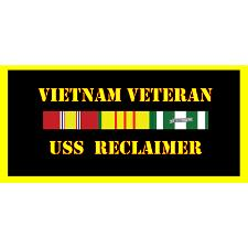 USS Reclaimer Vietnam Veteran License Plate