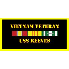 USS Reeves Vietnam Veteran License Plate