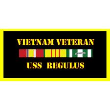 USS Regulus Vietnam Veteran License Plate