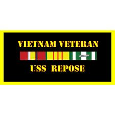 USS Repose Vietnam Veteran License Plate